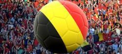 ballon foot couleurs belgique foule supporters